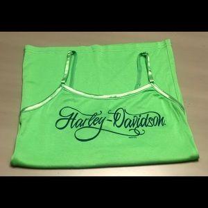 NWOT Harley Davidson Lime Green Camisole